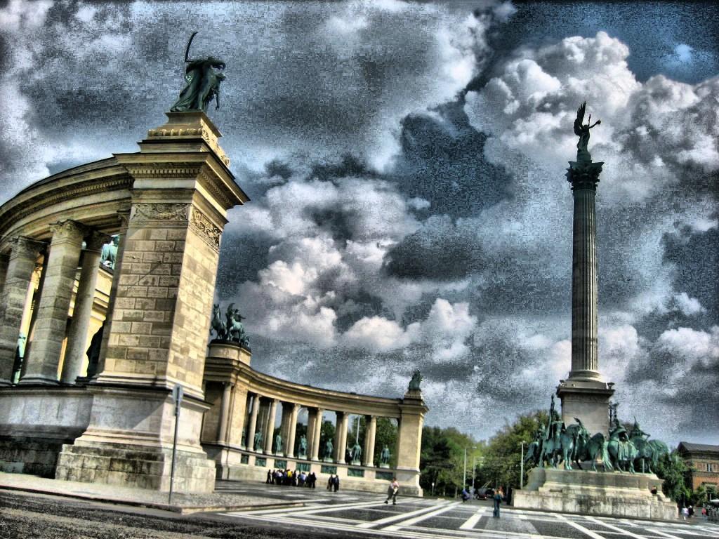 Hősök tere or Heroes'Square Budapest