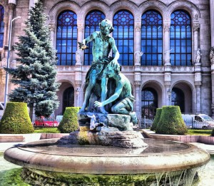 About Budapest Statue